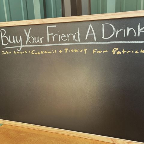 The buy your friend a drink board is now open @tincitydistillery and @pasowineshine … party on @johnmlewis2323 #cocktails #bar #bartenderlife #bartender #drinks #libations #speakeasy #distillery #distillation #whiskey #brandy #vodka #gin #boozy #friends #friendshipgoals #tincity #tincitypaso #tincitypasorobles @tincitypasorobles @tincity.pasorobles #spirits #pasorobles #pasorobleswinecountry #paso #slo #californialove #slolife