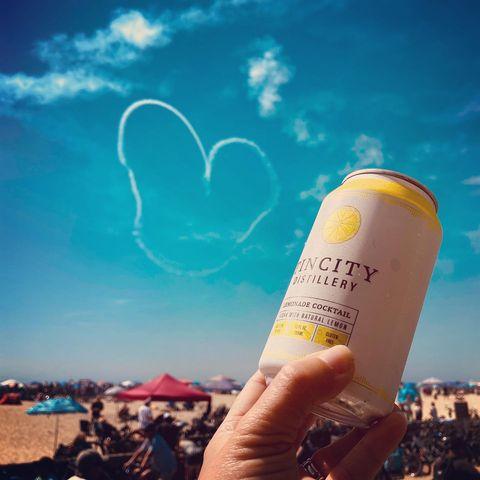 Love is in the air, and in our cans!  —————————————————————  #lemonade #lemon #vodka #cocktail #cocktailsofinstagram #cocktails #love #lovestory #cans #heart #hearts #skylovers #skyporn #hbairshow #huntingtonbeach #tincity #tincitypaso #pasorobles #pasowine #travelpaso #pasorobleswinecountry #slo #slolife #californialove #bartender #distillery @hbairshow @surfcityusa @cityofhb #huntingtonbeachpier #hb