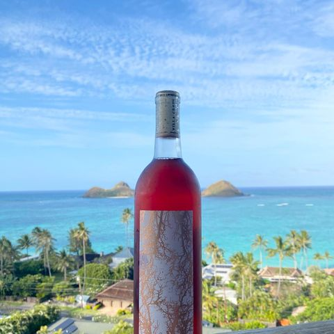 Our Rosé was made with places like this in mind...   Where do you go when you pop the cork?  #RoseAndRelaxation #Lanikai #HawaiianWine #VacationInAGlass #OrganicWine